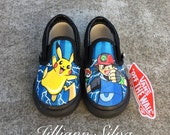 SALE Pokemon Go Pikachu Toddler Vans Size 6.5c -Ready to Ship!