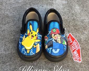 Pokemon Go Pikachu Toddler Vans Size 6.5c -Ready to Ship!