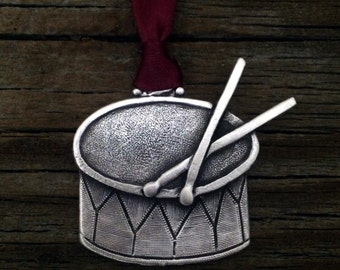Little Drummer Boy Nativity Christmas Ornament Decoration by Teasure Cast Pewter