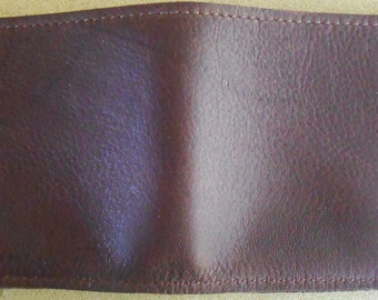 Chocolate Brown Single Fold Leather Wallet with Card Pockets and Money Pocket
