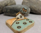 MyLand - #hangingon - Collectible 3x3 cm or 1.2x1.2 in. puzzle in stoneware