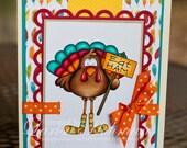 Thanksgiving Turkey Handmade Greeting Card