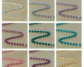 ON SALE 30 Colored Ball Chain 1.5mm  Necklaces 24 inch with connectors You Select Your Colors.