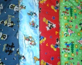 MICKEY MOUSE #1 fabrics, sold individually,not as a group, sold by the Half Yard, please see body of listing