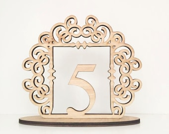 Clayton Scroll Wedding Table Numbers