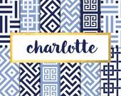 Charlotte Digital Paper Pack (Instant Download)