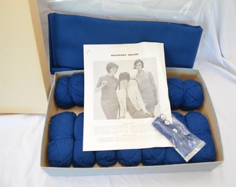 Vintage MADAWASKA WEAVERS skirt and sweater sewing knitting KIT 1960's mod complete in box