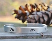 Mountain Bracelet . Earthy Jewelry . Nature Jewelry . Gifts for Hikers Campers Backpackers . Under 25 . Wilderness . Travelers . Explorers