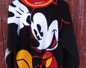Yay Mickey! - vintage 80s Mickey & Co. sweater L XL