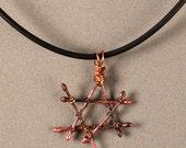 Custom Order Lashed Copper Star of David Sculpture