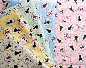 Japanese Fabric - Alice in Wonderland 5 Fat Quarter Bundle Set (nu160201)