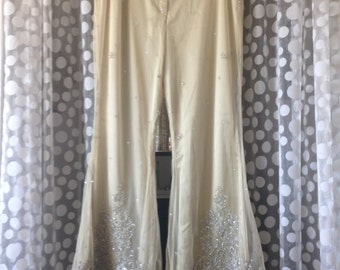 Vintage Beaded and Embroidered Bell Bottoms
