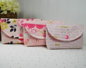 3 Piece Snap Pouch Set, Nesting Pouch Set (Large, Medium, Small) .. Vintage Daydream