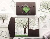 RESERVED for Sara Tidmore, Balance of Fall Oak Tree Invitations and Accessories