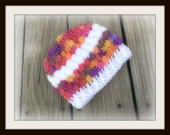 Crochet Baby Hat Puff Hat - Crochet Baby Hat - Crochet Puff Hat  (Ready to Ship)