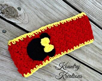 Crochet Headband Adults Ear warmer Winter Headband /Crochet Headband with Flower/Head wrap Ear warmer Warm Hair Band Button(Ready to Ship)