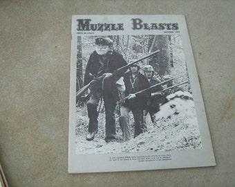 1975 October Muzzle blasts vintage magazine