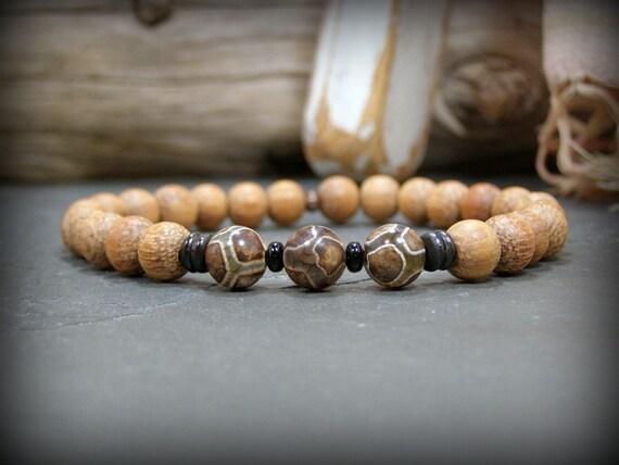 Bracelet for Men, Beaded Bracelet, Men's Jewelry, Stack Bracelet, Gift for Him,  Husband, Boyfriend,  Gemstone Bracelet, Mens Bracelet