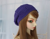 No Flower SD BJD Hat Beret Size 8-9 You Choose Colors Mori Style Crochet for Volks Luts Feeple 60 F60 1/3 Ball Jointed Doll Clothes Abjd