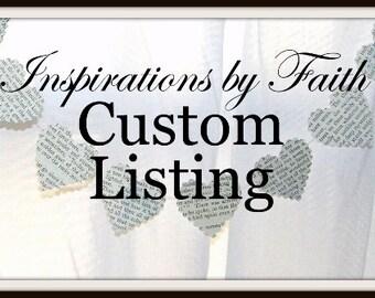 Custom listing for Aubri - Tea Stained Tag Set - Large