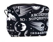 Zippered NOTIONS BAG with zipper pull -  Wicked Ouija
