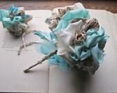Vintage fabric Bouquet * Wedding Bouquet * Vintage Italian Scarf * Handmade Wedding * Pommery