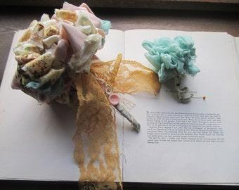 Vintage Fabric Flowers * Handmade Bridal & Celebration Bouquets * Vintage Textile Bouquets