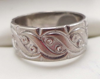 Sterling Ring Signed ESPO Silver Wedding Band Size 6 Joseph Esposito 790