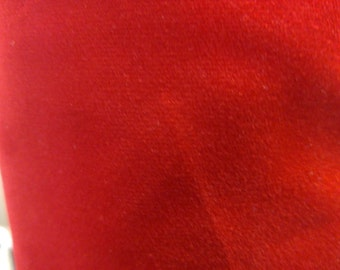 Holiday Red Cotton Velveteen 2 Yds More Available #A635