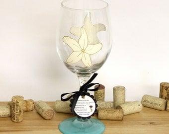 Starfish, Star fish wedding, beach wedding, beach table decor, ocean wedding, painted wine glasses, large wine glasses, beach wedding, wine