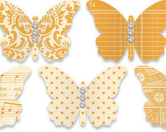Jenni Bowlin Embellished Butterflies (3 colors to choose from)