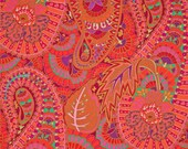 COUPON Code Sale - Kaffe Fassett, Belle Epoch, Red Paisley, Rowan Westminster, 100% Cotton Quilt Fabric, Quilting Fabric, SELECT A SIZE