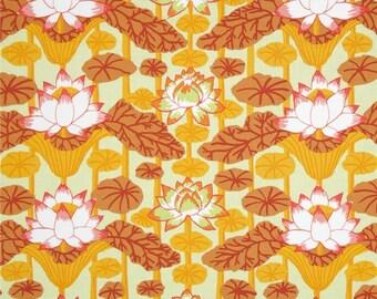 COUPON CODE SALE - Kaffe Fassett, Lotus Stripe, Gold, Rowan Westminster, Designer Cotton Quilt Fabric, Quilting Fabric
