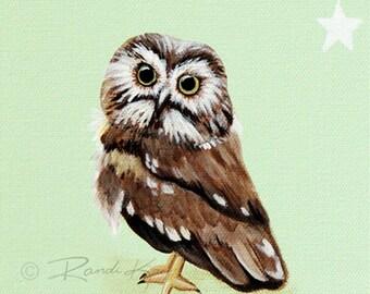 Owl Decor- Owl Art Print - Baby prints - Owl Nursery Art - Owl Nursery wall art - Owl Artwork - Woodland nursery - Woodland Animal -Kids Art