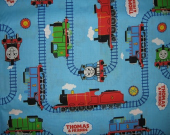 Thomas The Train Tank Fabric by the yard  Tracks characters friends cars Cotton  Rare and Out of Print