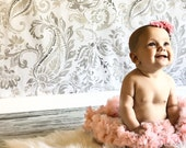 Newborn pettiskirt..Baby pettiskirt....White pettiskirt...pink petti skirt....photography prop....christening