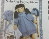 Ragtime Dolls Sophie & Her Everyday Clothes Mccalls Crafts 4333 Pattern #3 Sophies Clothes with Blackwork Embroidery Includes Stick Horse