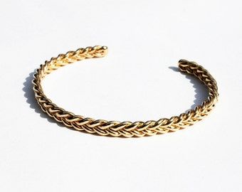Solid Gold Braid Bracelet