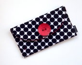 Black and White Bag, Small Pouch, Polka Dot Clutch, Woman's Fashion, Bridesmaids Gift, Cosmetic Bag