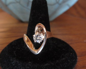 Sterling Silver Moissinite  Orbit Ring