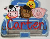 Farm Truck - Iron On or Sew On Embroidered Applique