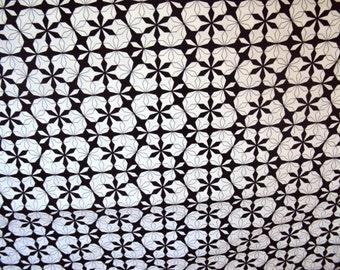White Floral Stream Fabric - 1/2 yd - Essentials III - Studio e