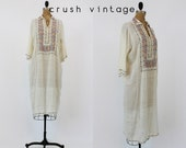 20s Caftan Dress Small Medium / 1920s Embroidered Dress / Moroccan Nights Caftan