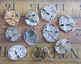 Featured - Steampunk supplies - Watch movement parts - Vintage Antique Watch parts Steampunk - Scrapbooking 9j