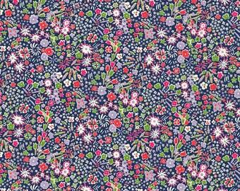 Liberty Tana Lawn Fabric Classics Kayoto A Navy Half Yard