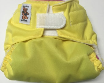 "MamaBear BabyWear ""UNPocket"" Diaper, Diaper Cover, Wrap One Size Fits Most - Yellow & Pink"