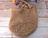 Eco Friendly Grocery Bag - Tan Farmer's Market Bag - market tote - beach tote - reusable grocery bag - day care bag - soccer bag - dance bag