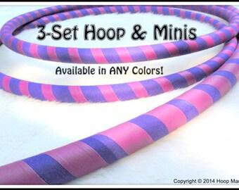3-PACK 'ULTRAGRIP' Hula Hoop & Mini Twins Set- Choose Any Colors and Sizes!