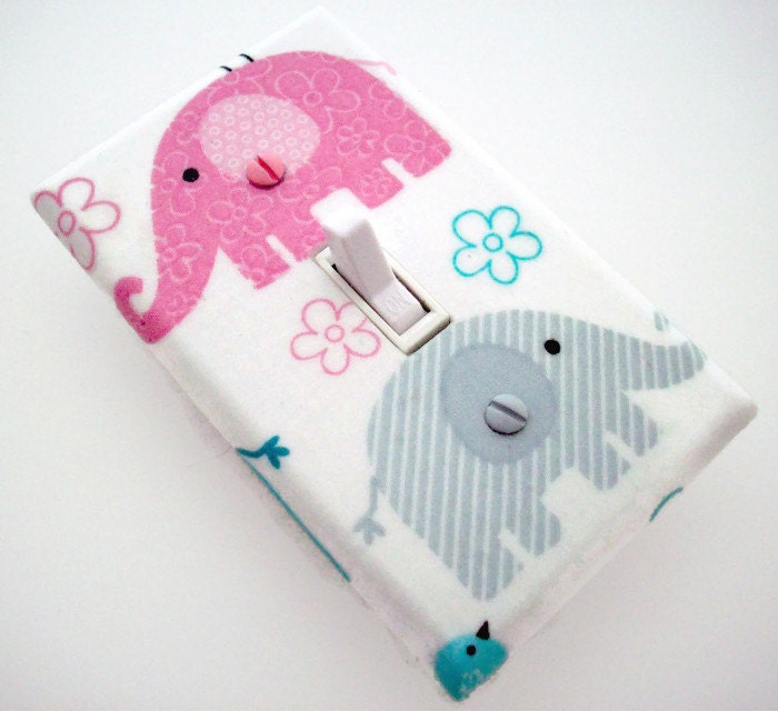 Elephant Light Switch Cover Elephant Switch Plate Pink