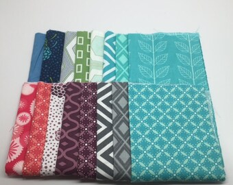 SUMMER SALE - Fat Eighths (16) - Simply Style - Vanessa Christensen for Moda Fabrics